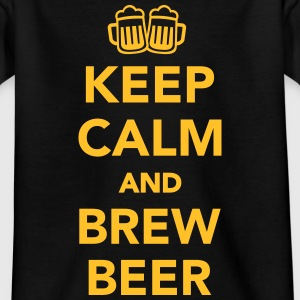 Keep calm and brew beer T-Shirts - Kinder T-Shirt