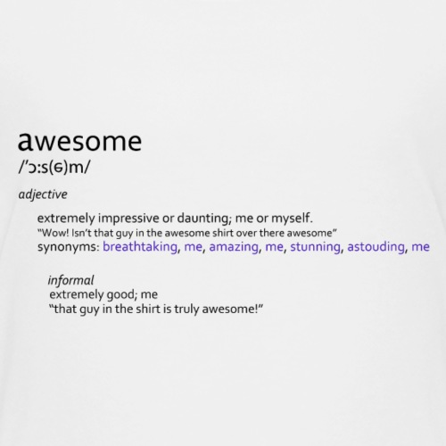 awesome funny joke shirt