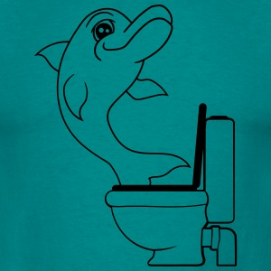 frech ekelig klo toilette bad lustig comic cartoon T-Shirts - Männer T-Shirt