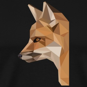 renard low poly - T-shirt Premium Homme