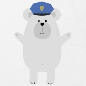 Happy polar bear officer Shirts - Kids' Organic T-shirt