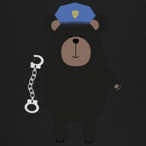 Police black bear and handcuffs Baby Long Sleeve Shirts - Baby Long Sleeve T-Shirt