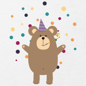 Party Brown bear Tee shirts - T-shirt Bio Enfant