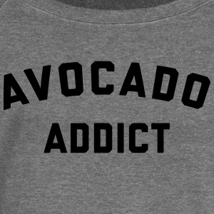 Avocado Addict Funny Quote Hoodies & Sweatshirts - Women's Boat Neck Long Sleeve Top