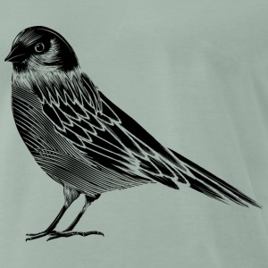 Black and white drawing of a bird T-Shirts - Men's Premium T-Shirt