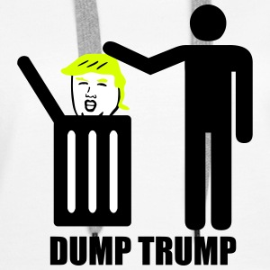 Dump Trump Sweat-shirts - Sweat-shirt à capuche Premium pour femmes