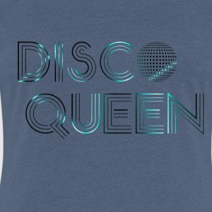Disco Queen Neon Blue T-Shirts - Frauen Premium T-Shirt