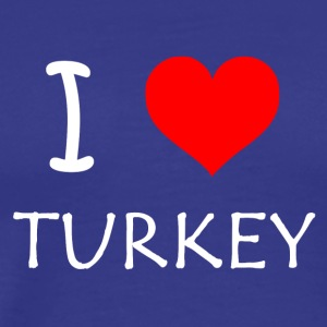 I Love Turkey - Männer Premium T-Shirt