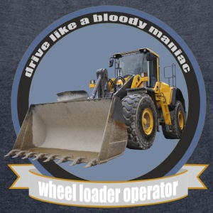 wheel loader operator T-Shirts - Women's T-shirt with rolled up sleeves