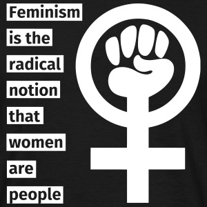 Feminism is the radical notion that women are peop T-shirts - Herre-T-shirt