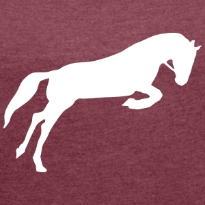 Horse T-Shirts - Women's T-shirt with rolled up sleeves