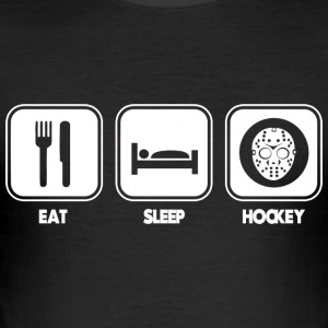 Eten - slapen - hockey T-shirts - slim fit T-shirt