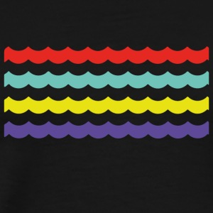 Colour Waves - Männer Premium T-Shirt