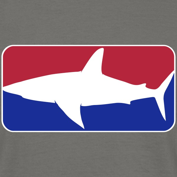 league_shark_vec_3 dk T-shirts - Herre-T-shirt