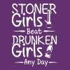 Stoner grils beat druken girls any day - Männer Premium T-Shirt