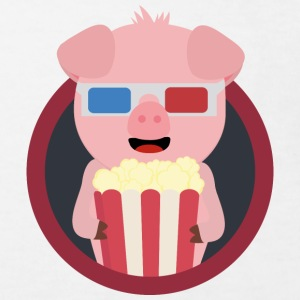 Cinema-pig with popcorn Shirts - Kids' Organic T-shirt