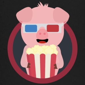 Cinema-pig with popcorn Baby Long Sleeve Shirts - Baby Long Sleeve T-Shirt