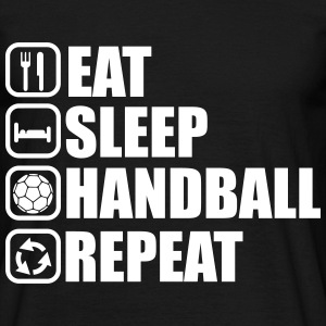 Eat,sleep,play,handball repeat, handball T-shirt  - Men's T-Shirt