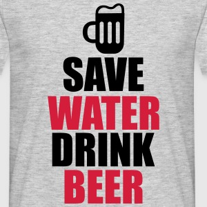Save water drink beer , Beer T-shirt  - Men's T-Shirt