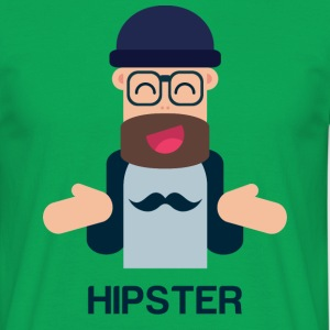 Funny Hipster - T-shirt Homme