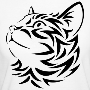 Tribal Cat - Frauen Bio-T-Shirt