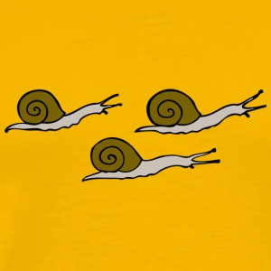 Three snails - Männer Premium T-Shirt