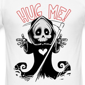 Hug Me Grim Reaper cartoon Design - Men's Slim Fit T-Shirt