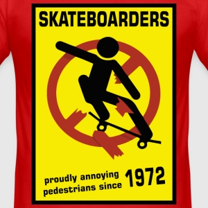 Skateboarding Since the 70' funny Design - Men's Slim Fit T-Shirt
