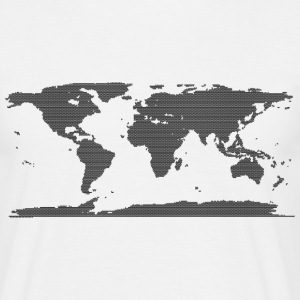 Cool Map of the World design - Men's T-Shirt