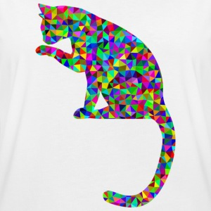 Cat Licking his Paws Design - Women's Oversize T-Shirt