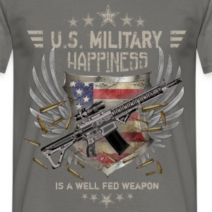 U.S. Military happiness is a well fed weapon  - Men's T-Shirt