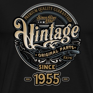 Day One Vintage since 1955 - Original Parts RAHMENLOS Birthday T-Shirts - Männer Premium T-Shirt