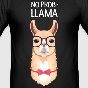No Prob- Llama T-Shirts - Männer Slim Fit T-Shirt