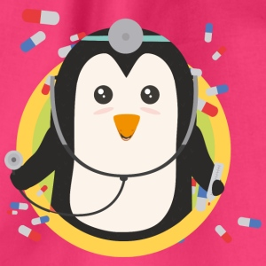 Penguin doctor in the district Bags & Backpacks - Drawstring Bag