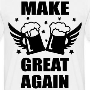 Make Beer Great Again Bier Spruch Männer T-Shirt - Männer T-Shirt