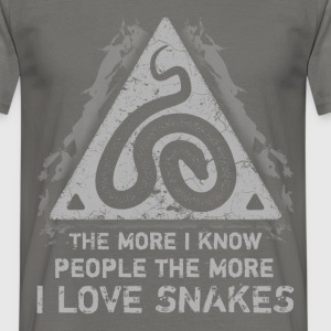 The more I know people, the more I love shakes - Men's T-Shirt