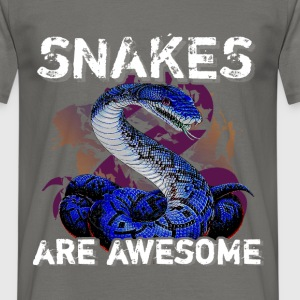 Snakes are awesome  - Men's T-Shirt