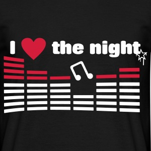 I love the night  - T-shirt herr