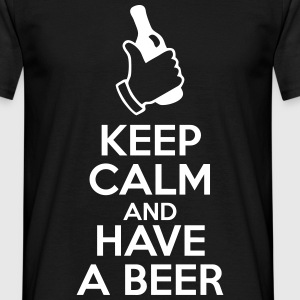 keep calm and have a beer - T-shirt herr