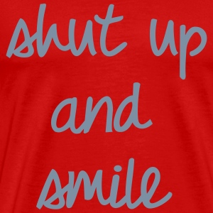 Shut up and smile, Pixellamb ™ T-Shirts - Männer Premium T-Shirt
