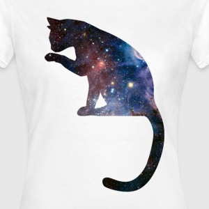 Galaxy Cat Space Design T-Shirts - Women's T-Shirt