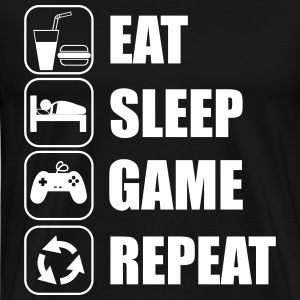 Eat,sleep,game,repeat  - Premium T-skjorte for menn