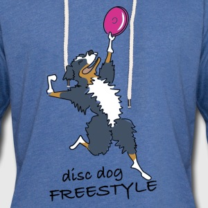 disc dog freestyle Sweaters - Lichte hoodie unisex