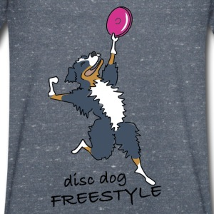 disc dog freestyle Tee shirts - T-shirt Homme col V