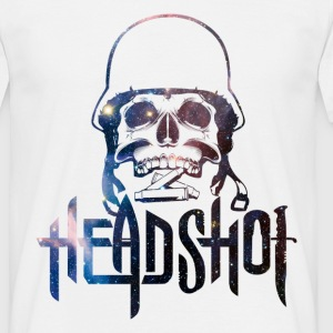 Galaxy Military Skull Headshot  T-Shirts - Men's T-Shirt