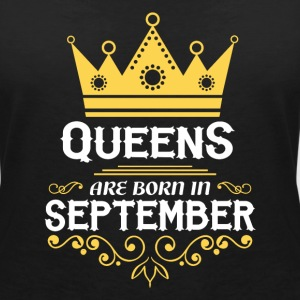Queens are born in September T-Shirts - Women's V-Neck T-Shirt