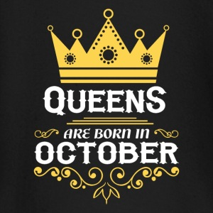 Queens are born in October Baby Long Sleeve Shirts - Baby Long Sleeve T-Shirt