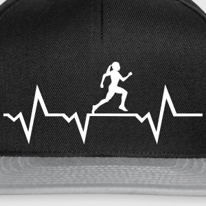 Running Woman & Heartbeat Caps & Hats - Snapback Cap