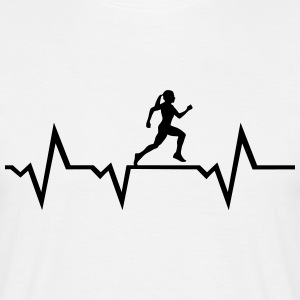 Running Woman & Heartbeat Camisetas - Camiseta hombre