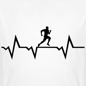 Running Man & Heartbeat T-Shirts - Men's Organic T-shirt